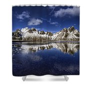Where The Mountains Meet The Sky Shower Curtain