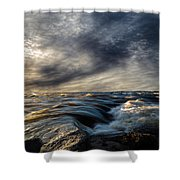 Where The River Kisses The Sea Shower Curtain
