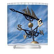 Where The Wind Blows Shower Curtain