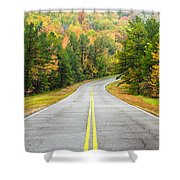 Where This Road Will Take You - Talimena Scenic Highway - Oklahoma - Arkansas Shower Curtain