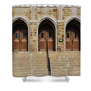 Which Door Will You Choose Shower Curtain