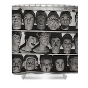 Find The Real Ventriloquist Head Shower Curtain