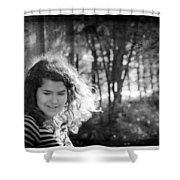 While Walking Along A Path Shower Curtain