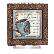 Whimsical Coffee 2 Shower Curtain by Debbie DeWitt