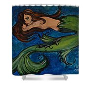 Whimsical Mermaid Shower Curtain