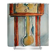 Whimsical Time Piece Shower Curtain