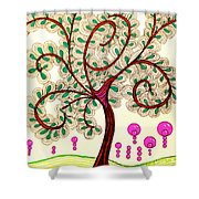 Whimsy Tree Shower Curtain