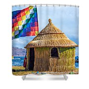 Whiphala Flag On Floating Island Shower Curtain