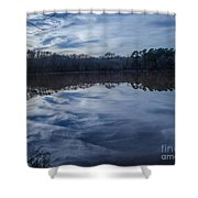 Whipped Cream Christmas Reflection Shower Curtain