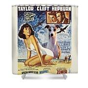 Whippet Art - Suddenly Last Summer Movie Poster Shower Curtain