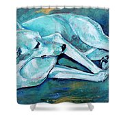 Whippet-effects Of Gravity-3 Shower Curtain