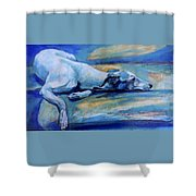 Whippet-effects Of Gravity-6 Shower Curtain