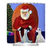 Whippet Talk Shower Curtain
