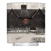 Whipple House Christmas Shower Curtain