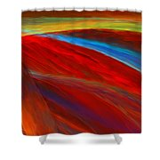 Whirled Colors Shower Curtain