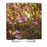 Whirling Butterfly Bush Shower Curtain