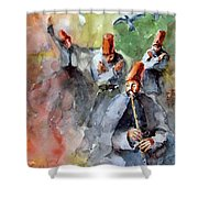 Whirling Dervishes And Pigeons         Shower Curtain