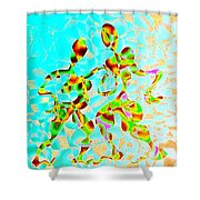 Whirling Tango Shower Curtain