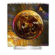 Whirling Wood  Shower Curtain
