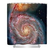 Whirlpool Galaxy In Dust Shower Curtain