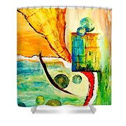 Whirlwind II Shower Curtain