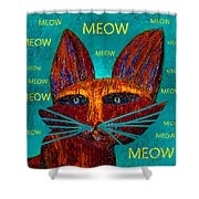 Whiskers Meowing Shower Curtain