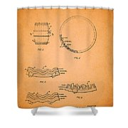 Whiskey Barrel Patent Shower Curtain
