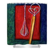 Whisks Shower Curtain