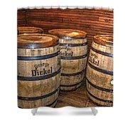 Whisky Barrels Shower Curtain