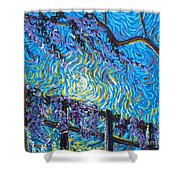 Whisp On A Fence Shower Curtain