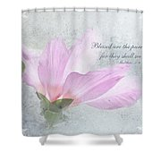 Whisper To Me With Verse Shower Curtain