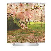Whispering Cherry Blossoms Shower Curtain