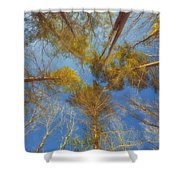 Whispering Trees Shower Curtain