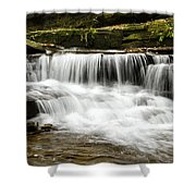 Whispering Waterfall Landscape Shower Curtain