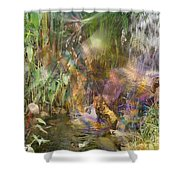 Whispering Waters - Square Version Shower Curtain