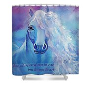 Whispers To My Heart Shower Curtain