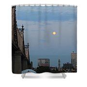 Whispy Clouds And A Moon Shower Curtain