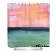 Whispy Pink/organge Sky Shower Curtain