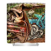 Whistler Train Wreck Stopping Point Shower Curtain