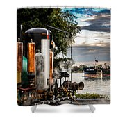 Whistles And Ship Shower Curtain