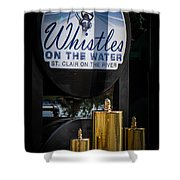 Whistles On The Water Shower Curtain