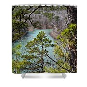 Whistling Pines Shower Curtain