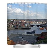 Whitby Rooftops Shower Curtain