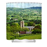Whitchurch Canonicorum Overview  Shower Curtain
