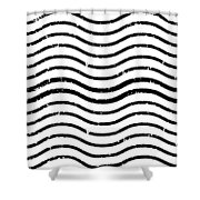 White And Black Postage Shower Curtain