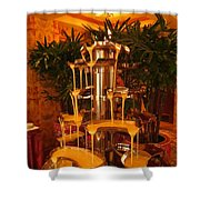 White And Dark Chocolate Fondue Fountain Shower Curtain