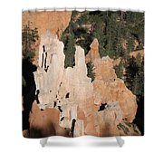 White And Red Rocks Of Bryce Np Shower Curtain