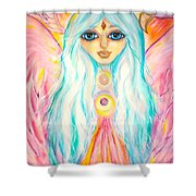 White Angel Shower Curtain