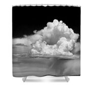 White Billowing Cloud Formation In Montana Shower Curtain
