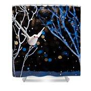 White Bird In Winter Shower Curtain
